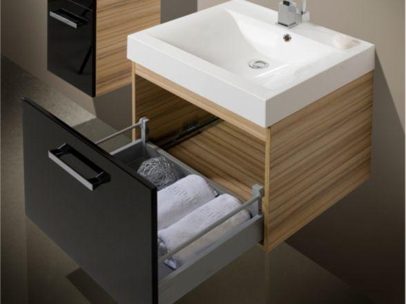 """Waschplatz """"Salerno"""" 60 cm mit Mineralgusswaschtisch"""