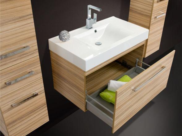 """Waschplatz """"Salerno"""" 90 cm mit Mineralgusswaschtisch"""